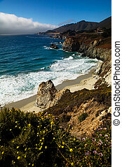 Scenic view of ocean off the pacific coast highway in Northern California