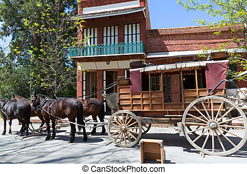 California Columbia a real old Western Gold Rush Town -...