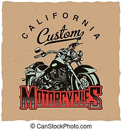 California Custom Motorcycles Poster