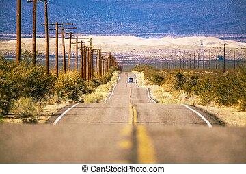 california, deserto, viaggio strada