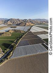 California Farm Fields Aerial