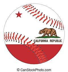 California Flag Baseball
