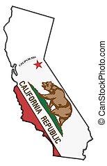 California Flag In Map
