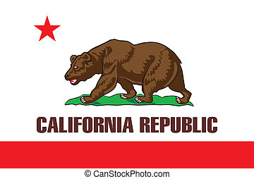 California flag - Various vector flags, state symbols,...