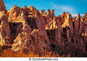 california, formazione, deserto, roccia