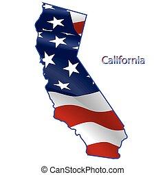 California full of American flag