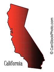California Halftone Map