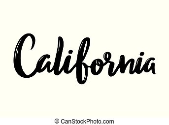 California handwritten calligraphy name of USA state.