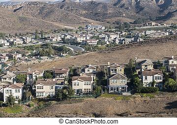California Hillside Suburbia