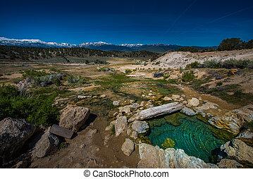 California Hot Springs Bridgeport CA USA - Small Turquoise ...