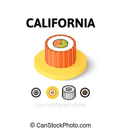California icon in different style