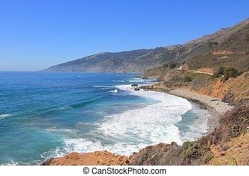California landscape, United States - Pacific coast at Big ...