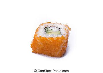 california maki sushi isolated on white background