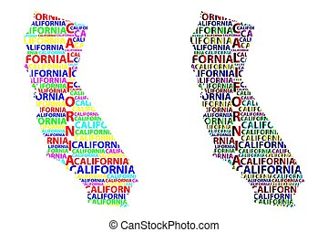 California map vector
