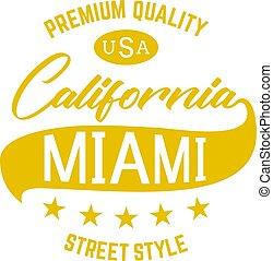 California Miami usa black denim