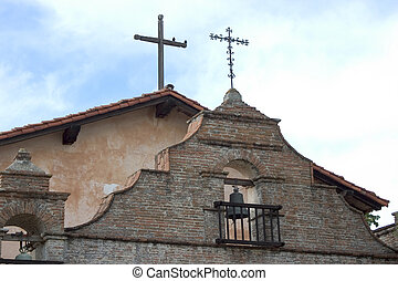 California Mission Detail - An exterior shot of a California...