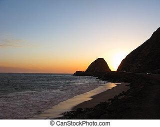 Point Mugu at Night - California Pacific Coast Highway near...