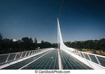 california., redding, pont, cadran solaire