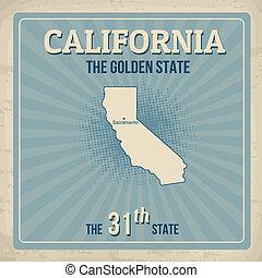 California retro poster