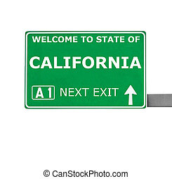 CALIFORNIA road sign isolated on white