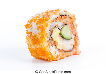 California roll with crab meat, mayonnaise, cucumber, ...