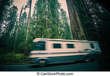 california, rv, viaggio