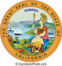California seal - Various vector flags, state symbols,...