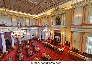 California Senate Chamber - SACRAMENTO, CALIFORNIA - MAY 31...