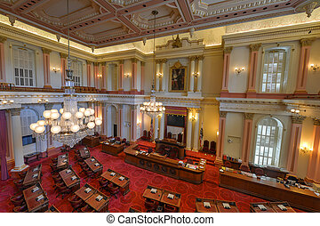 California Senate Chamber - SACRAMENTO, CALIFORNIA - MAY 31,...
