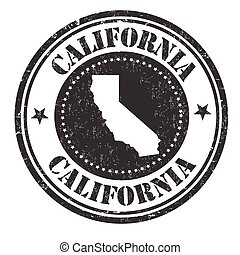 California sign or stamp
