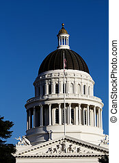 California State Capitol Building Dome Against Blue Sky