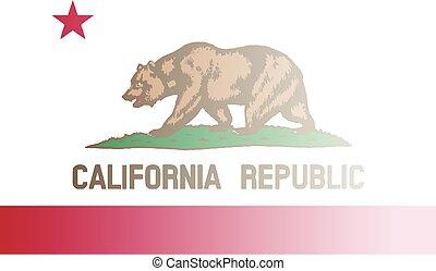 California State Flag Fade Background