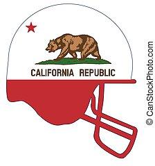 California State Flag Football Helmet