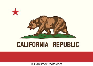 California State of America flag, vector image