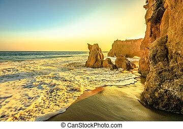 California sunset beach background