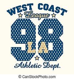 Los Angeles graphic Print - California T-shirt fashion...
