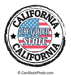 California, The golden state stamp