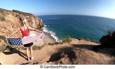 California travel destination concept. Lifestyle woman...