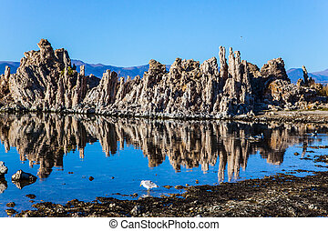 "The columns - remains of ""Tufa"" - California, USA...."