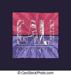 California vector graphic t-shirt design, poster, print.