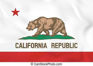 California waving flag. California state flag background texture.