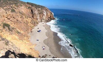 Pirates Cove beach - California West Coast. Panoramic view...