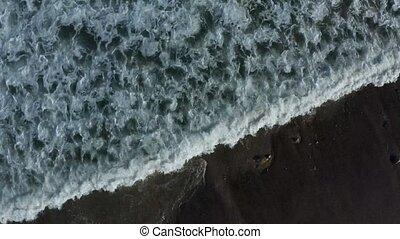 californie, état, bourdon, parc, ruisseau, footage., aérien, malibu, 4k, spectaculaire, vidéo, coucher soleil
