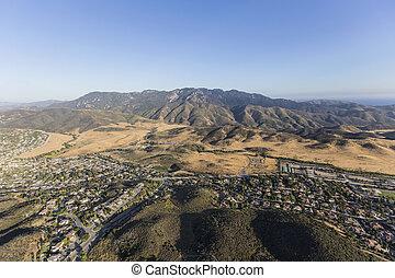 californie, aérien, parc, newbury, vue