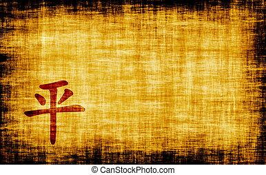 caligrafía, -, paz, chino