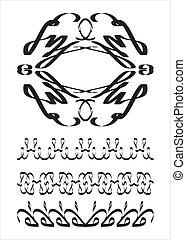 caligraphic, éléments, conception