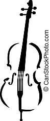 caligraphy, cello, stijl