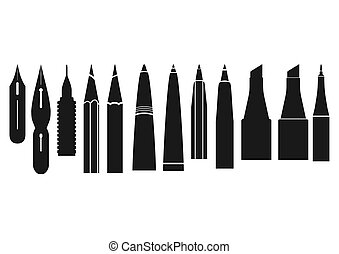 Caligraphy tools.