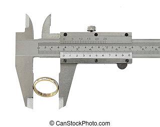 Caliper - Measuring a ring