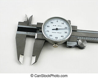 Calipers for measuring very small thickness of machine ...